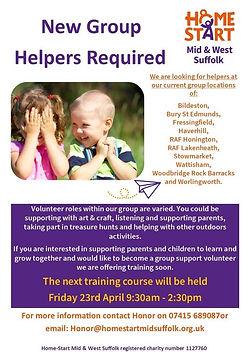 Home-Start Mid & West Suffolk Volunteering Opportunities