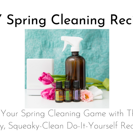 DIY Spring Cleaning Recipes