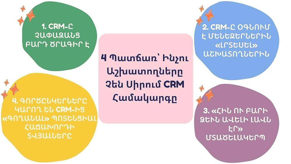 ինչու աշխատողները չեն սիրում օգտագործել CRM համակարգը