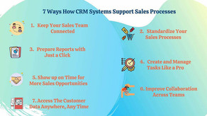 7 Ways How CRM Systems Support Sales Processes