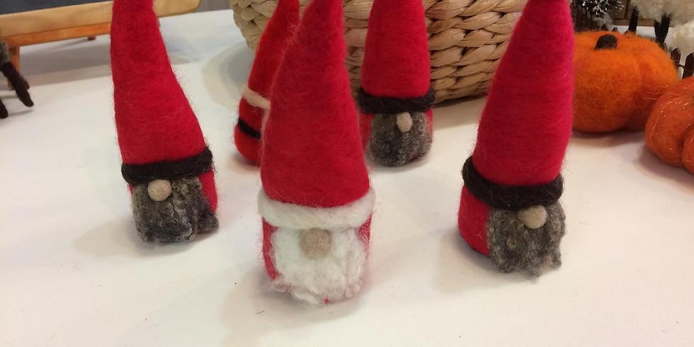 Needle Felting: Holiday Gnome
