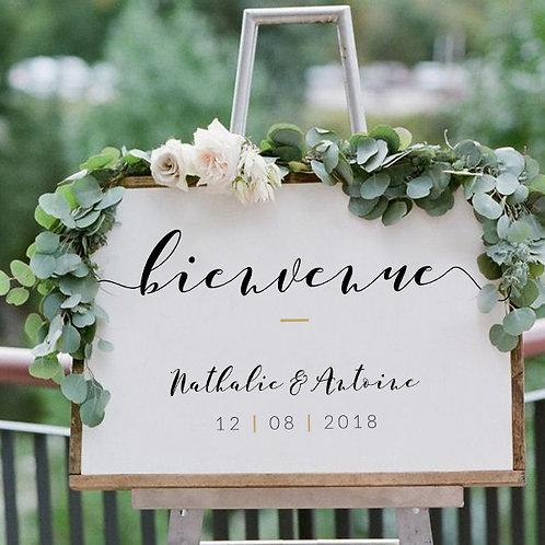 Panneau de Mariage Bienvenue
