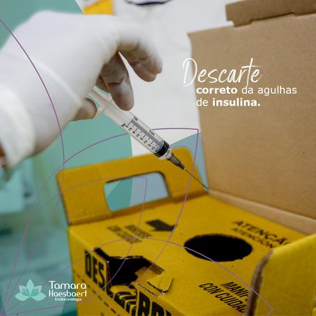 Descarte correto da agulhas de insulina