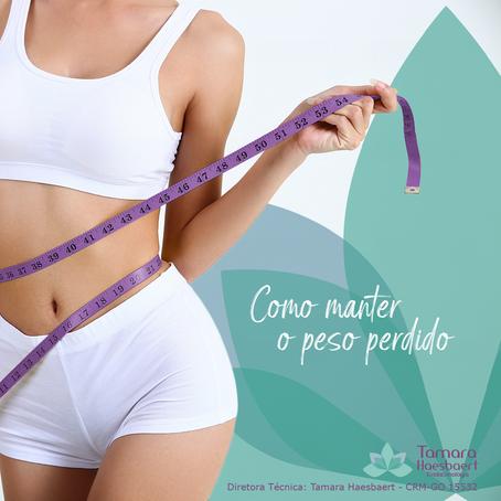 Como manter o peso perdido