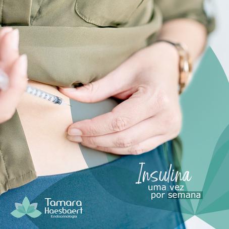 Já pensou em poder aplicar a insulina somente uma vez por semana?
