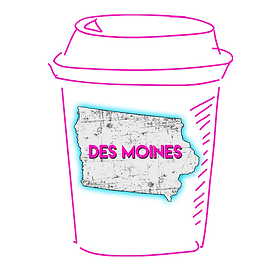 Des Moines Iowa Coffee Cup - Location Pa