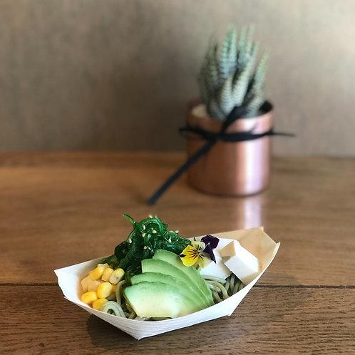 Seaweed, Tofu, Avocado & Corn Soba Salad