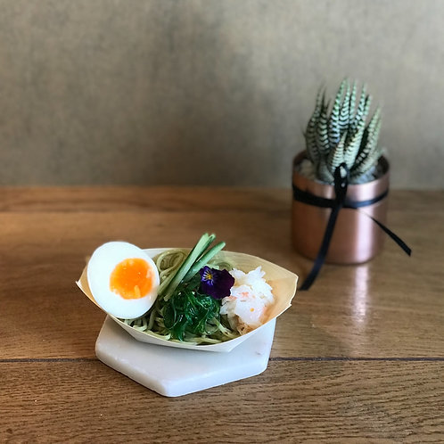 Crab Meat, Seaweed, Cucumber & Soft Centred Egg Soba Salad