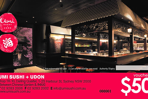 Darling Quarter Store $50 dining voucher