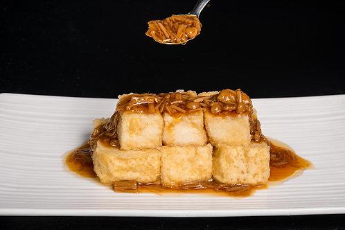 Agedashi Tofu with Enoki Sauce