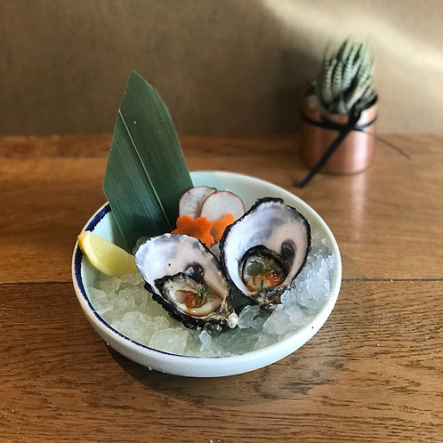 Fresh Oysters with Orange Soy