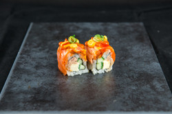 Spicy Salmon Cooked Tuna