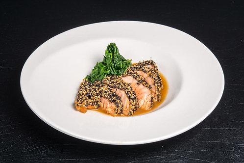 Seasame Salmon Steak