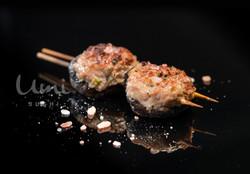 Shitake Mushroom Stuffed with Chicken Mince