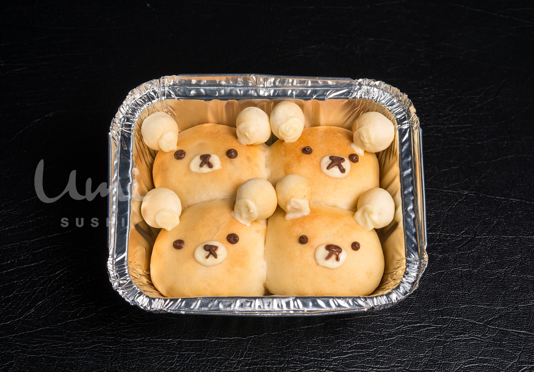 Custard Teddy Buns