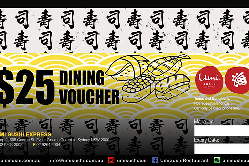 Event Cinema Store $25 dining voucher