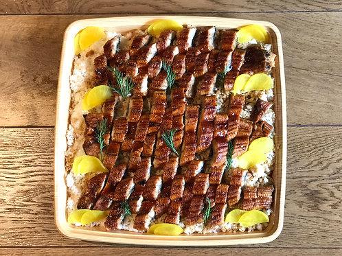 Unagi (eel rice) Platter