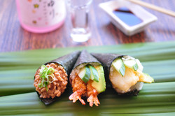 Natto, Ebi Fry and Tempura Squid