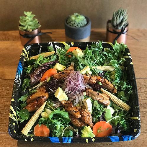 Teriyaki Chicken & Avocado Salad Platter