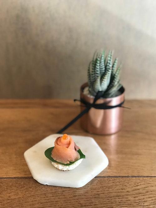 Mini Blinis with Smoked Salmon