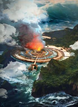 Atlantis burning