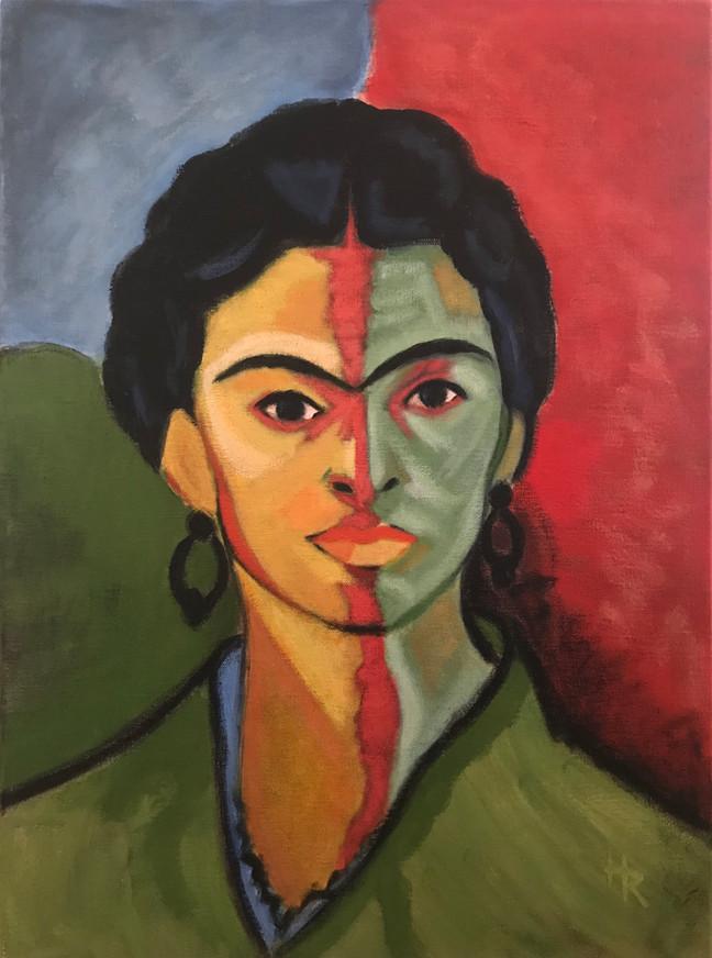 Frida med rød strek