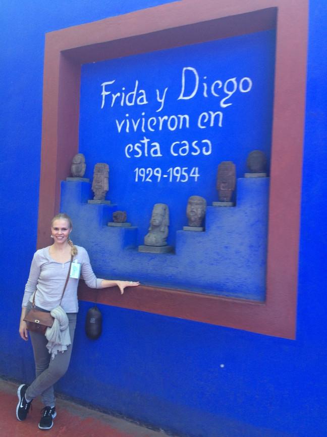 Frida og Diegos hus i Mexico City