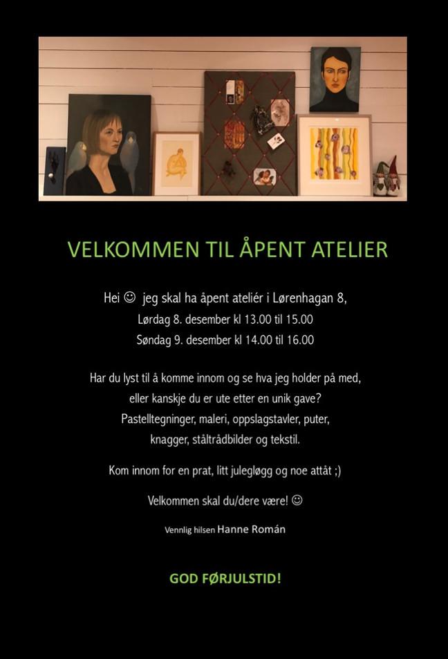 Åpent atelier 8. og 9. desember