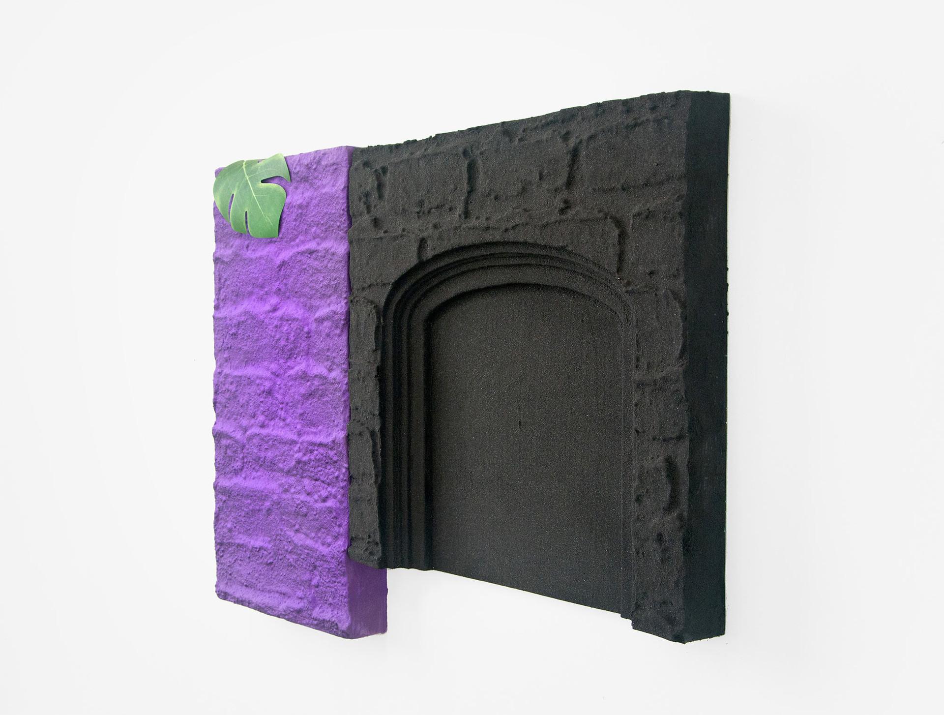 Purple and black night