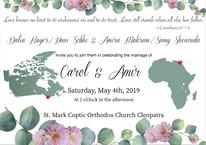 CAMI Wedding Invitation