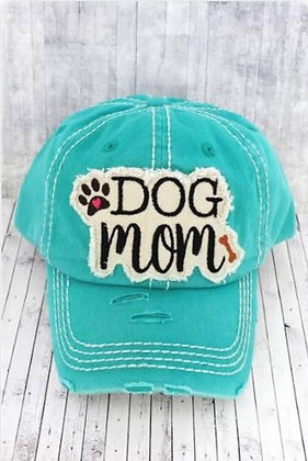 "Distressed Cap ""Dog Mom"""