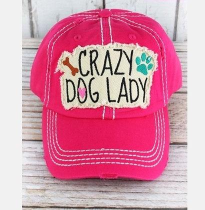 "Distressed Cap ""Crazy Dog Lady"""