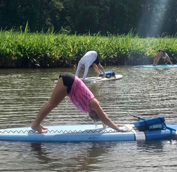 SUP Yoga Class on the Chickahominy River