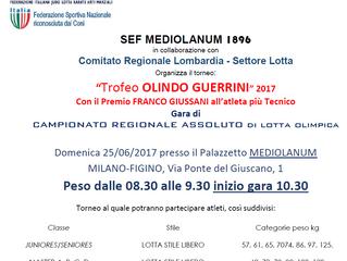 TROFEO OLINDO GUERRINI - REGIONALE ASSOLUTO