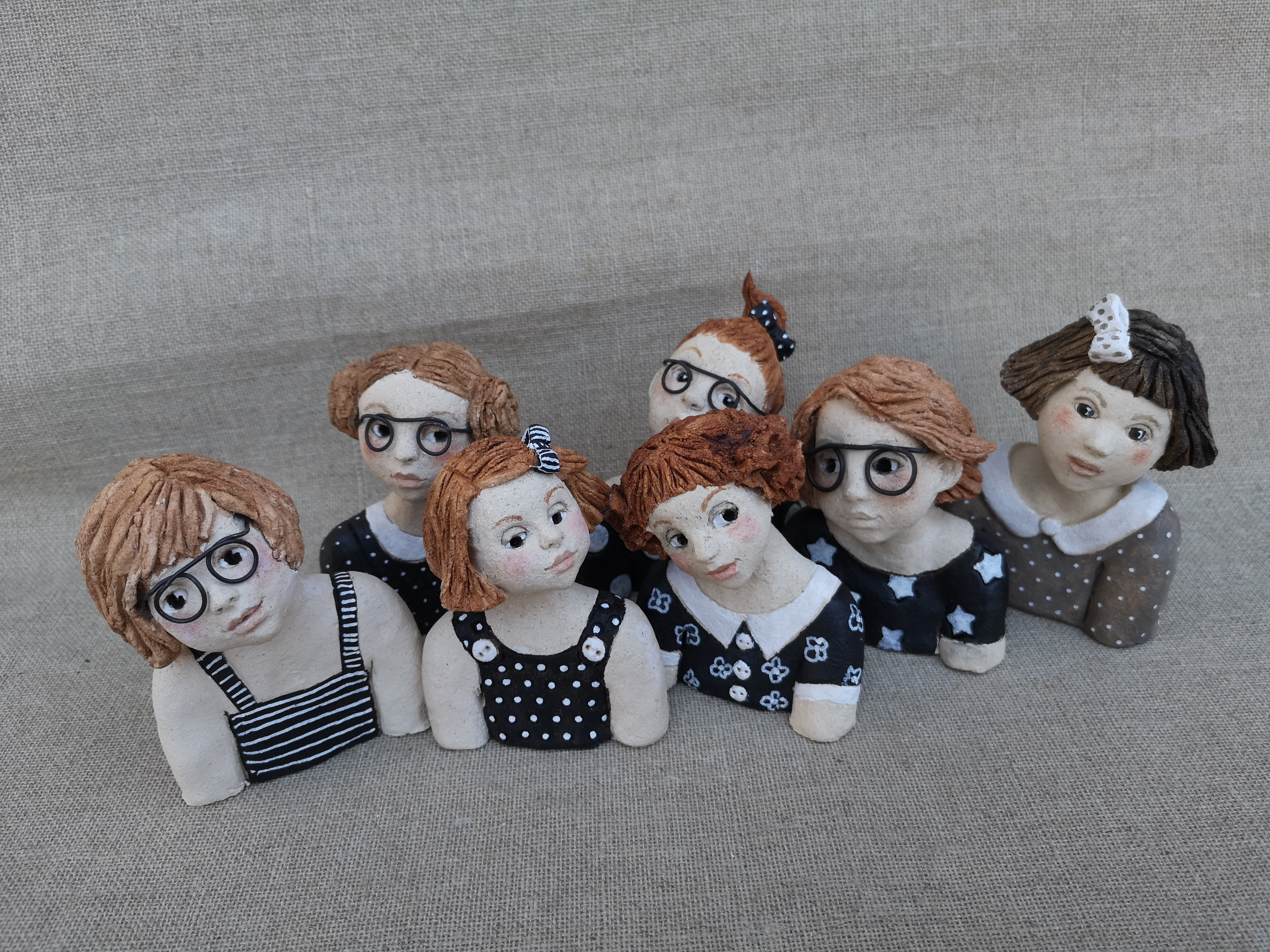Groupe 2 - mini bustes fillettes