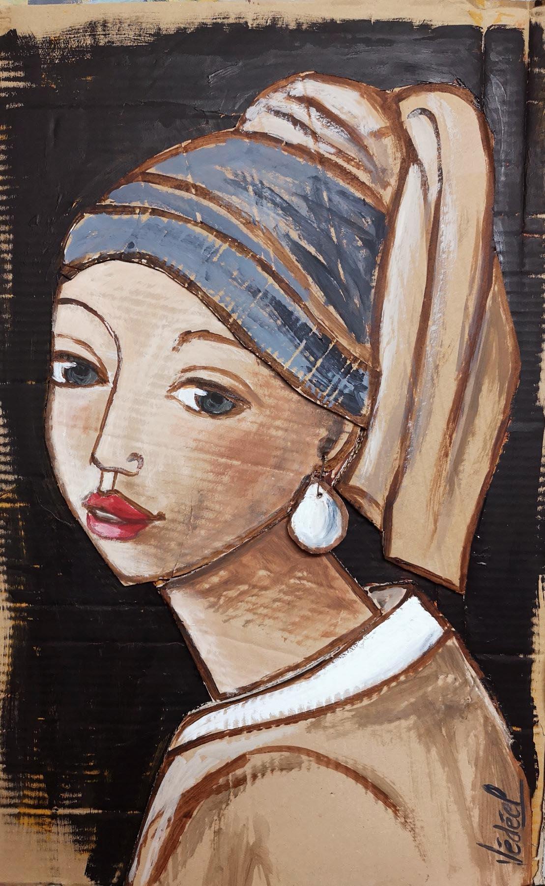 La jeune fille à la perle ... Wermeer sur carton !