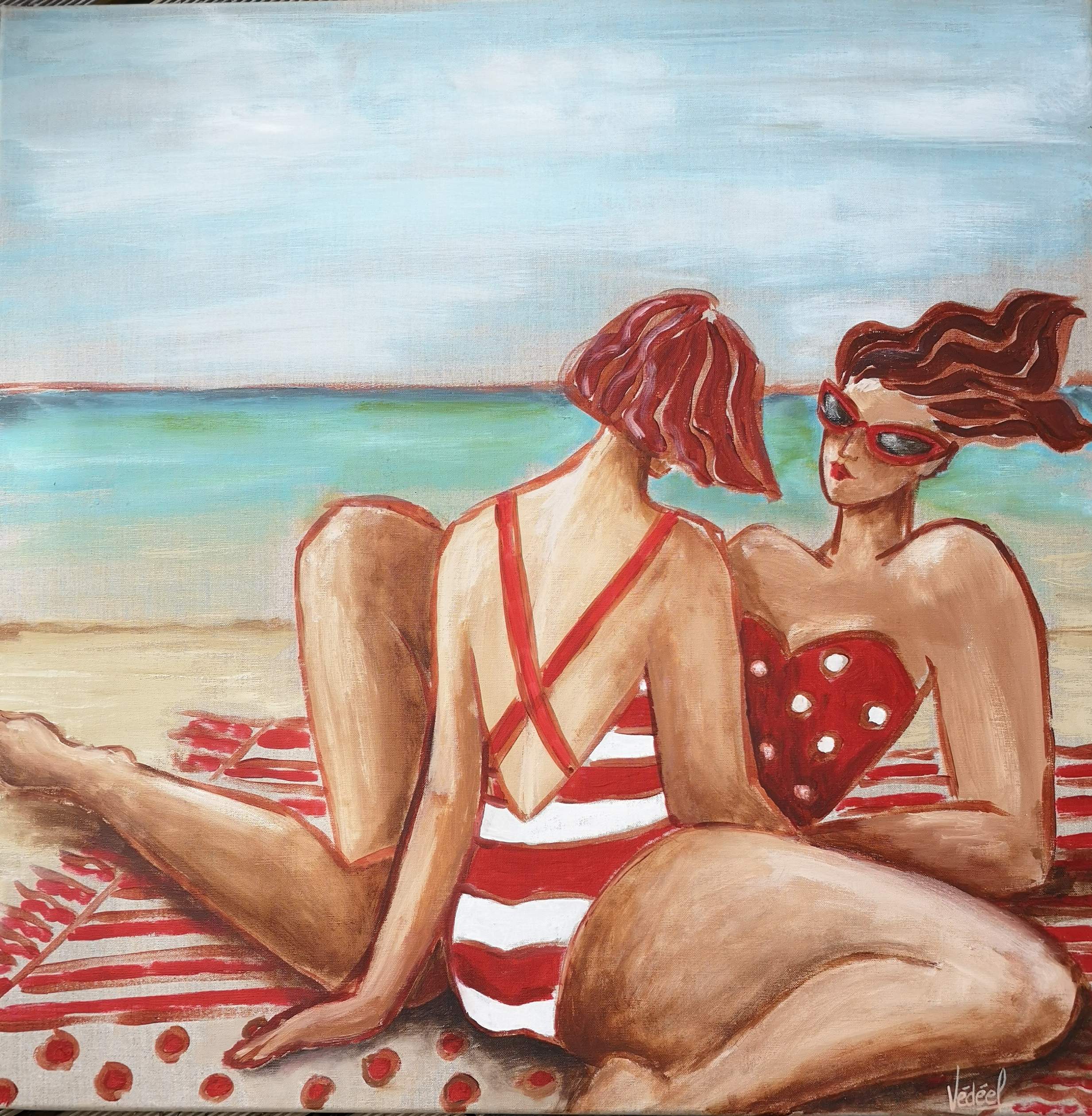 La conversation - acrylique sur toile