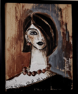 portrait collages 2 - acrylique  sur carton