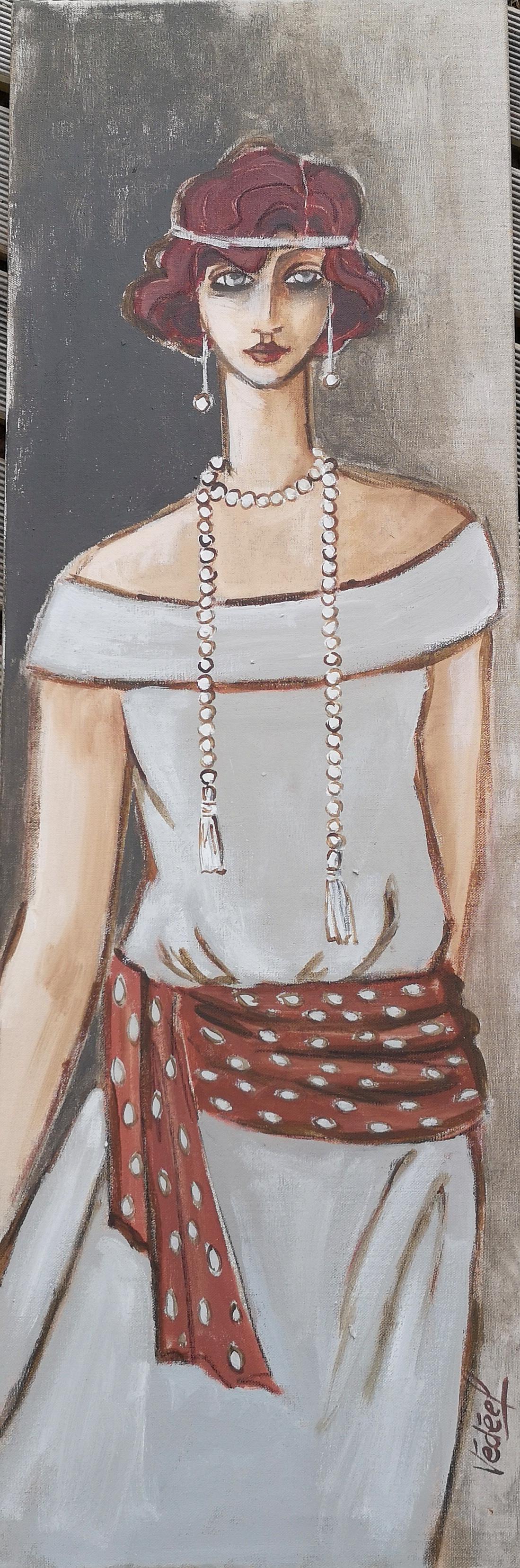 Les années 30 - 2 -  acrylique sut toile
