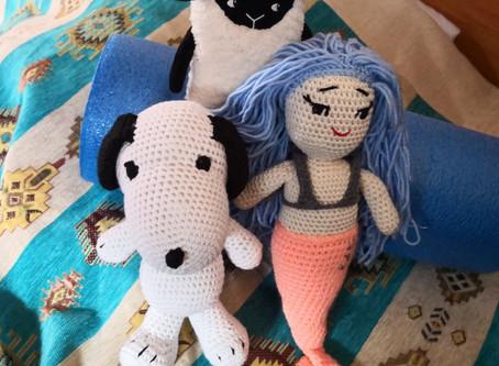 An Bord: Ela, Snoopy, Wolke