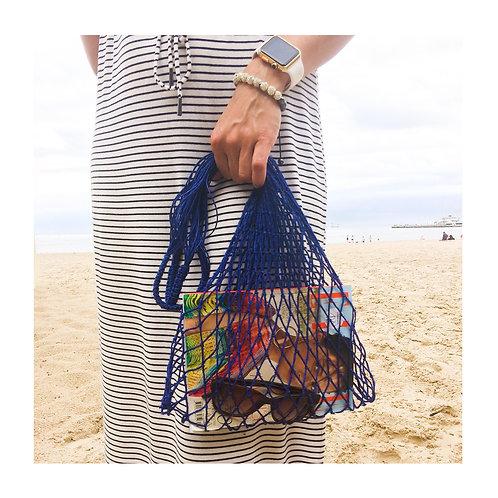 Lniana torba GiGi - niebieska