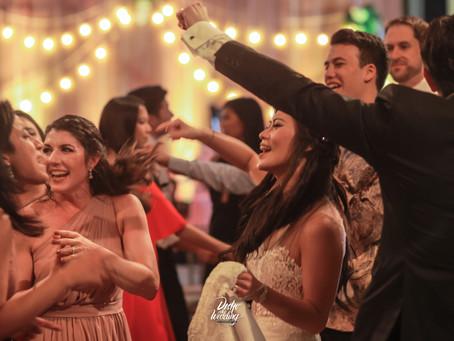 Wedding Disko Moment in the Reception at Crowne Plaza Hotel, Semarang