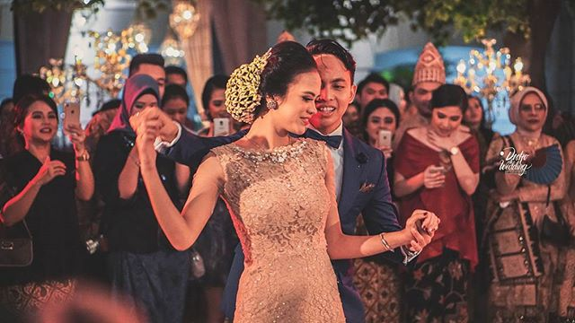 _Music is the Divine Way to tell beautiful, Poetic things to the Heart ____Nadhila & Saga #WeddingDance moment from their Wedding Reception_