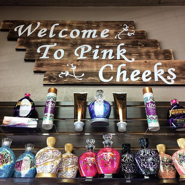 New lotion shipment! Let us help you pick out something to boost your tan for the 4th! #pinkcheeks #