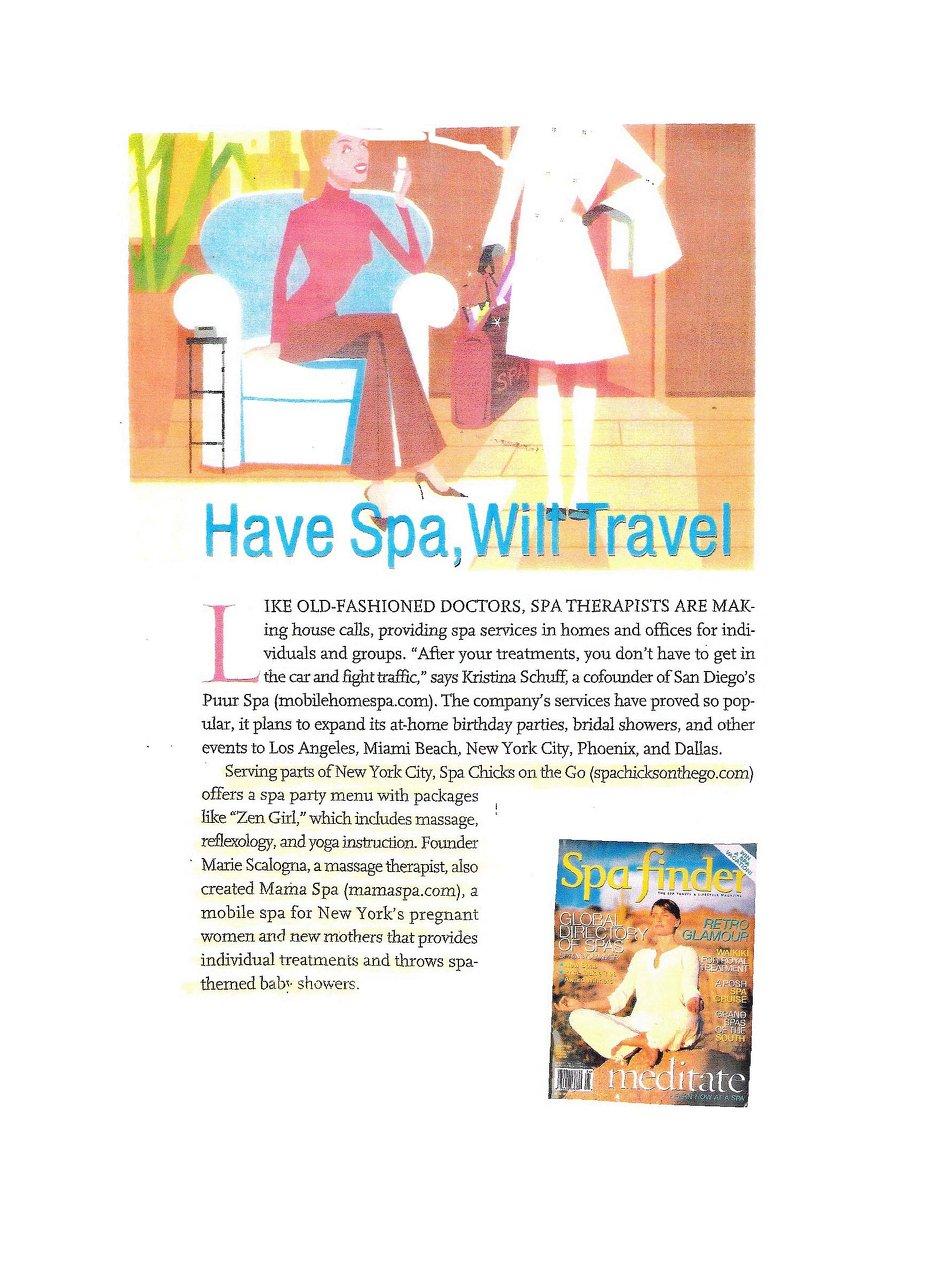 Spa Finder Article for Print