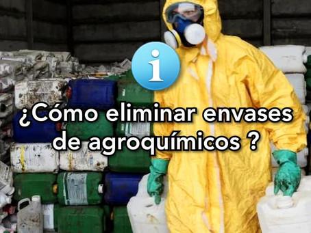 ¿Cómo eliminar envases de agroquímicos?