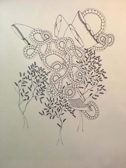 urban creature drawing