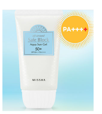 68d5e7b4b1a2c6 Missha - All Around Safe Block Aqua Sun Gel SPF50+ PA+++ 50ml