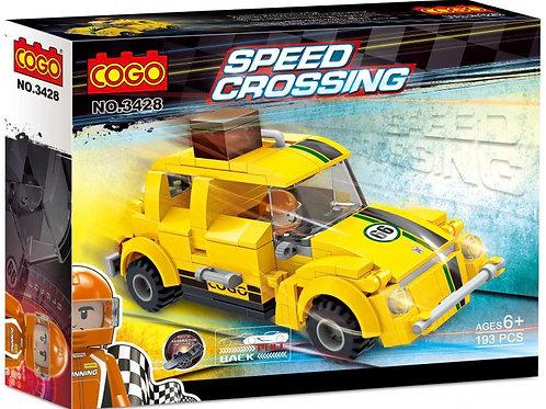 Carro Speed Crossing Amarillo 193pzs 6a+