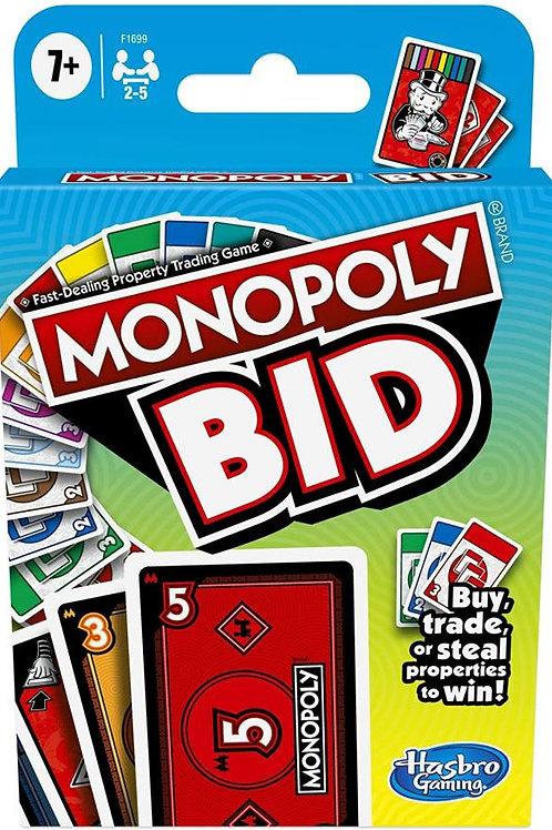 Juego de Cartas Monopoly Bid 7a+